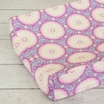 Purple Garden Changing Pad Cover