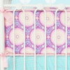 Purple Garden Crib Bumper