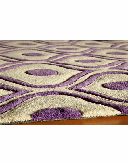 Purple Geometric Bliss Rug