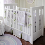 Purple Girls Crib Bedding