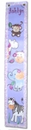 Purple Jungle Friends Hand Painted Canvas Growth Chart