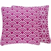 Purple Loops Large Throw Pillow