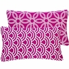 Purple Loops Lumbar Pillow