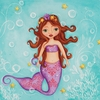 Purple Mermaid Personalized Canvas Reproduction