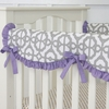 Purple Mod Lattice Crib Rail Cover