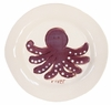 Purple Octopus on White Personalized Ceramic Dish Collection