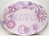Purple Oval Kaleidoscope Hand Painted Canvas Wall Art