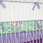 Purple Paige Crib Bumper