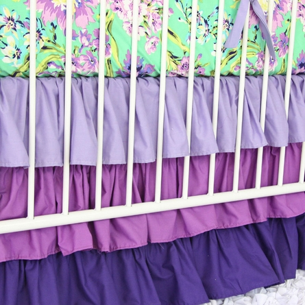 Purple Paige Crib Sheet