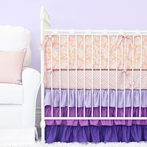 Purple Paisley Crib Bedding Set