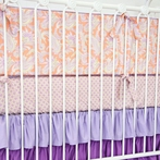 Purple Paisley Crib Bumper