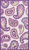 Purple Paisley Piper Rug