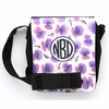 Purple Pansy Monogram Sling Bag