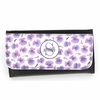Purple Pansy Monogram Wallet