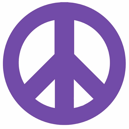 Purple Peace Sign and Polka Dots Wall Sticker