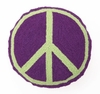 Purple Peace Sign Hook Pillow