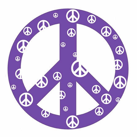 Purple Peace Sign Wall Sticker