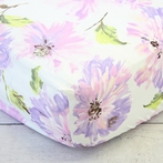 Purple Petunia Crib Sheet