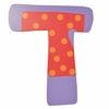 Purple & Red Polka Dot Wall Letter - T