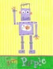 Purple Robot Canvas Reproduction