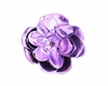 Purple Rose Metallic Hair Bloom