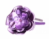 Purple Rose  Solid Headband with Metallic Purple Rose