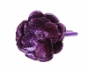 Purple Rose Solid Headband with Purple Rose Sequin Flower