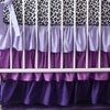 Purple Ruffle Crib Skirt
