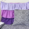 Purple Ruffle Pillow Sham