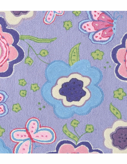 Purple Spring Time Rug
