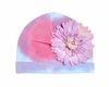 Purple Tie Dye Hat with Lavender Daisy