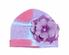 Purple Tie Dye Hat with Purple Rose