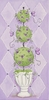 Purple Topiary I Canvas Reproduction