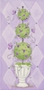 Purple Topiary II Canvas Reproduction