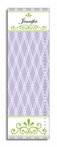 Purple Trellis Personalized Growth Chart