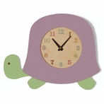 Purple Turtle Wall Clock