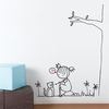Purring Cat Wall Decal
