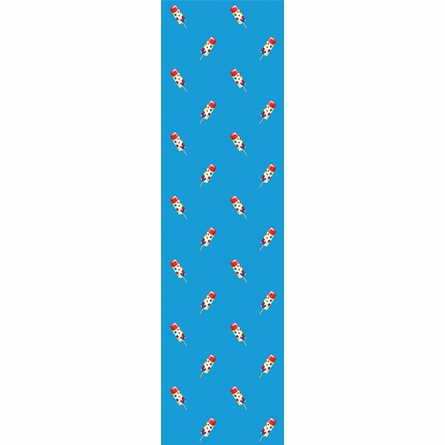 Push Pops in Blue Removable Wallpaper