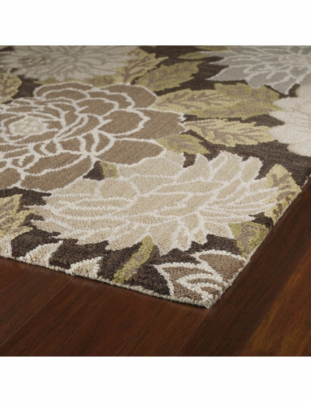 Putina Floral Rug in Brown