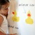 Quacking Ducks Removable Wallpaper in Light Yellow Check
