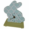 Quatrefoil Bunny Table Clock