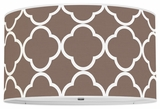 Quatrefoil Chocolate Brown