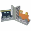 Quatrefoil Train Bookends