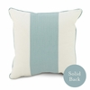 Quick Ship! Banded Square Pillow in Aqua