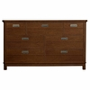 Quick Ship Boardwalk Double Dresser in Antique Cherry