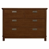 Quick Ship Boardwalk Single Dresser in Antique Cherry