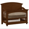 Quick Ship Built to Grow Laurels Crib in Antique Cherry
