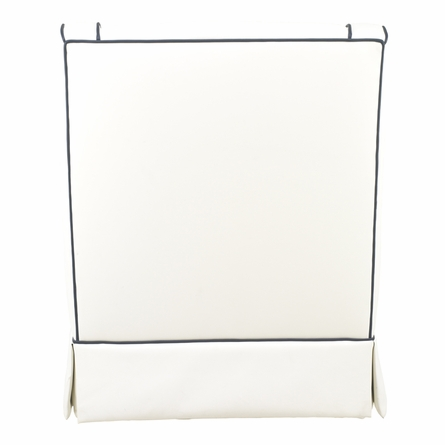 Quick Ship! Cohen Glider in White Faux Leather with Cobalt Piping