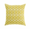 Gate Square Throw Pillow in Citrine