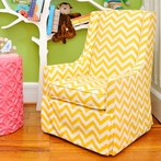 On Sale Luxe Child Chair - Yellow Chevron